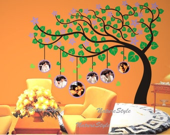 Beautiful tree with Flowers-Vinyl Wall Decal,Sticker,Nature Design