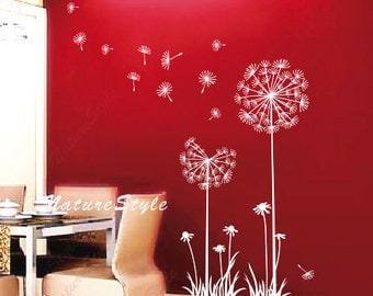 Dandelion wall decal flower kids boy girl nursery wall mural wall decal sticker room wall decal flower vinyl wall decal floral-Dandelions