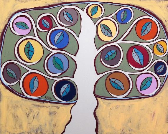 Kerri Ambrosino Mexican Folk  Art PRINT Mexican Folk Art Tree of Life