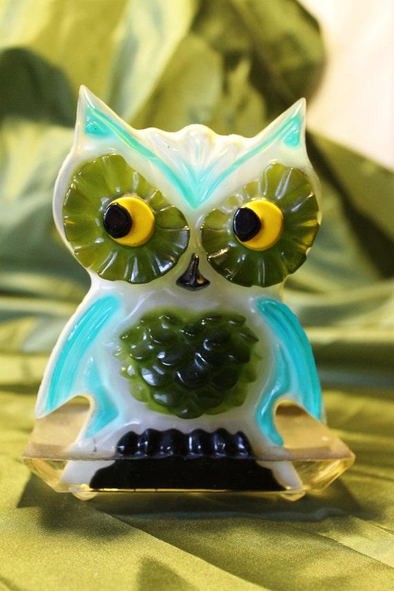 1960s Lucite Owl - Letter or Napkin Holder
