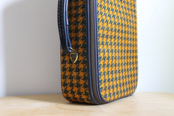 Houndstooth Mini Luggage - 1950s - Wool