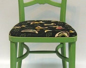 Vintage 50's chair, atomic fabric