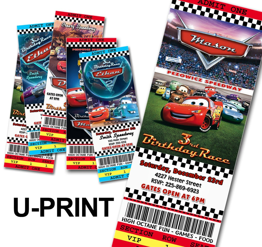 disney cars invitation ticket template disney cars invitation diy cars birthday invitations ticket style u by fancythisparty