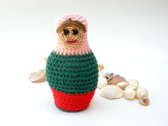 Babushka Doll Crocheted Plushie Tutorial, Handmade Doll PDF, Unique Gift Idea