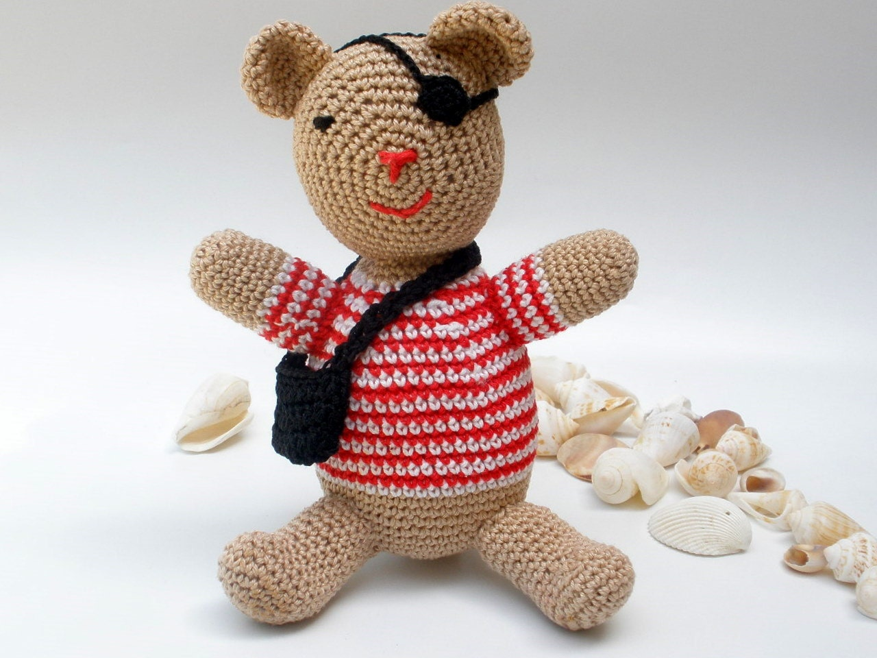 Amigurumi To Go Teddy Bear : How to crochet Amigurumi Captain Pirate Teddy Bear PATTERN