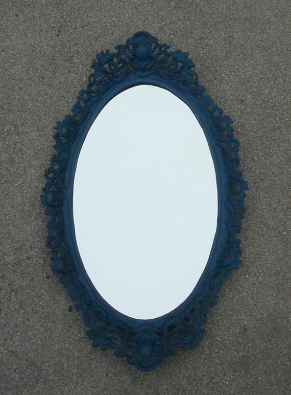 VIntage openwork cast iron vanity / frame / mirror