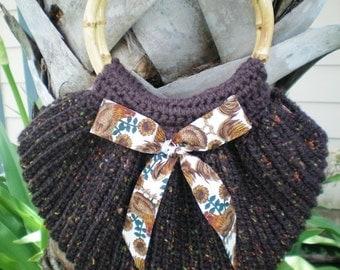 Tweed Fan Shaped Purse