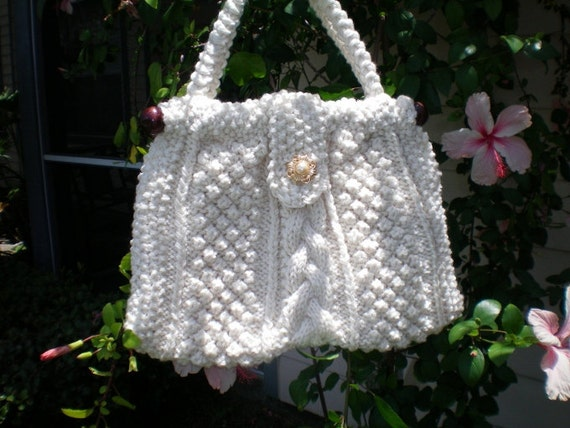 Aran Knit Purse SALE