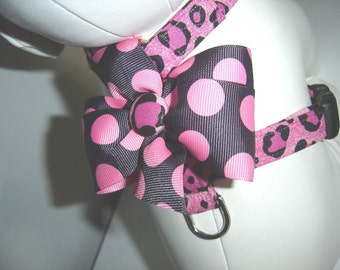 Dog Harness- The Pink Leopard