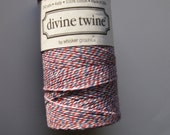 50 Yards of AIR MAIL - Red, White and Blue Bakers Twine
