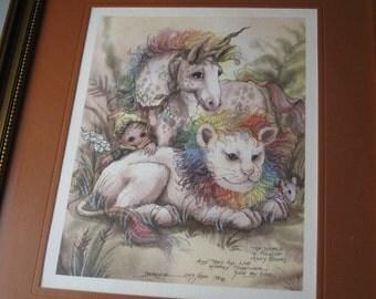 SALE - Vintage Jody Bergsma Print - Discounted 30%