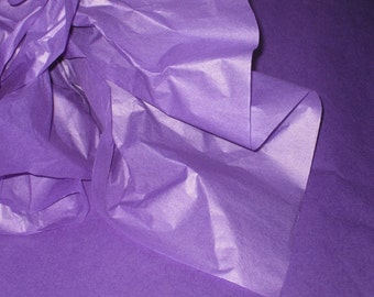 "10 Sheets of Purple Tissue Paper (20"" x 30"")"