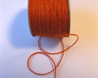 100 Yards of 2mm Orange Jute Twine