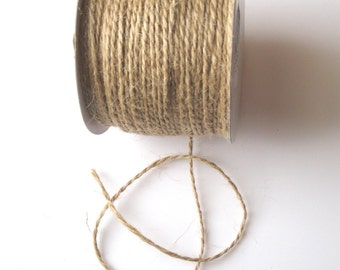 50 Yards of 2mm Natural Jute Twine