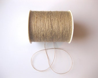 FULL SPOOL - 1mm Natural Jute Twine - 400 Yards