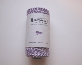 100 Yards of LILAC - Purple and White Bakers Twine