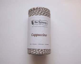 10 Yards of CAPPUCCINO - Brown and White Bakers Twine