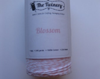 100 Yards of BLOSSOM - Light Pink and White Bakers Twine