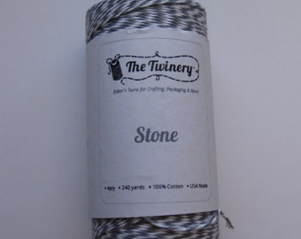 10 Yards of STONE - Gray and White Bakers Twine