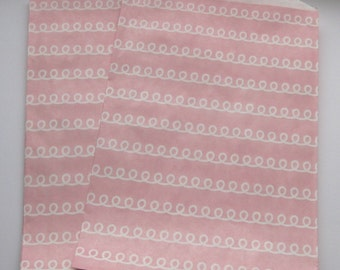"Set of 20 Pink Frosting Bigger Bitty Bags (6.25"" x 9.25"")"