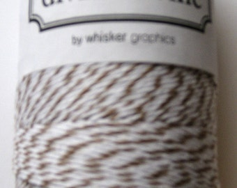 Full Spool - BROWN SUGAR - Brown and White Bakers Twine (240 yards)