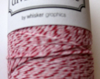 10 Yards of PEPPERMINT DIVINE - Red, Pink and White Bakers Twine