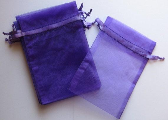 Set of 10 Purple Haze Organza Bags (5x8)