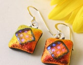 Fire and Ice Petite Dichroic Glass Earrings