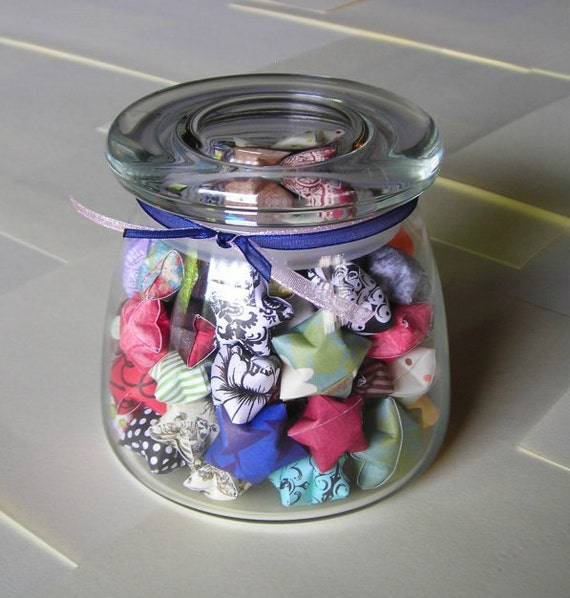 Wandering Stars - Round Bottom Glass Jar of Affirmation Stars