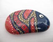 Mandarin fish - inspired hand painted stones