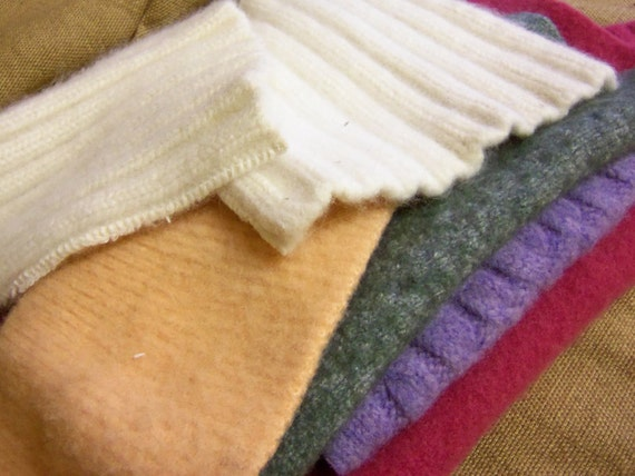 Felted wool piece assortment for needle felting or crafts light spring colors
