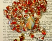 Divine Mercy Two-Tone Beads Rosary