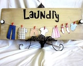 Laundry- Country rustic wooden board home decor