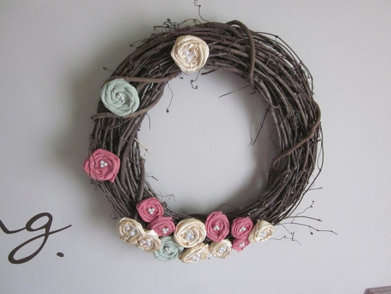 Flower decorative wreath for the home wall hanging