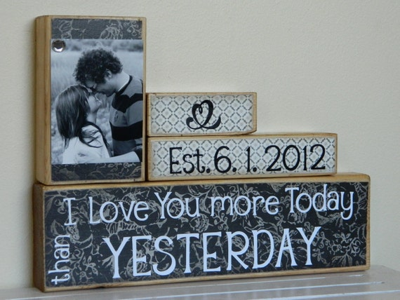 Personalized Wedding gift establish date wooden sign personalized photo 5th anniversary gift couples wedding gift unique gift for couple