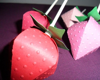 Strawberry Favor Boxes