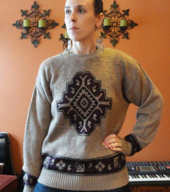 Navajo boyfriend pullover sweater