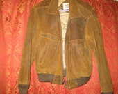 Vintage 1980's Brown Leather Men's Jacket