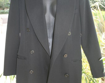 Black Women's Suit or Tuxedo Jacket Double Breasted Halloween