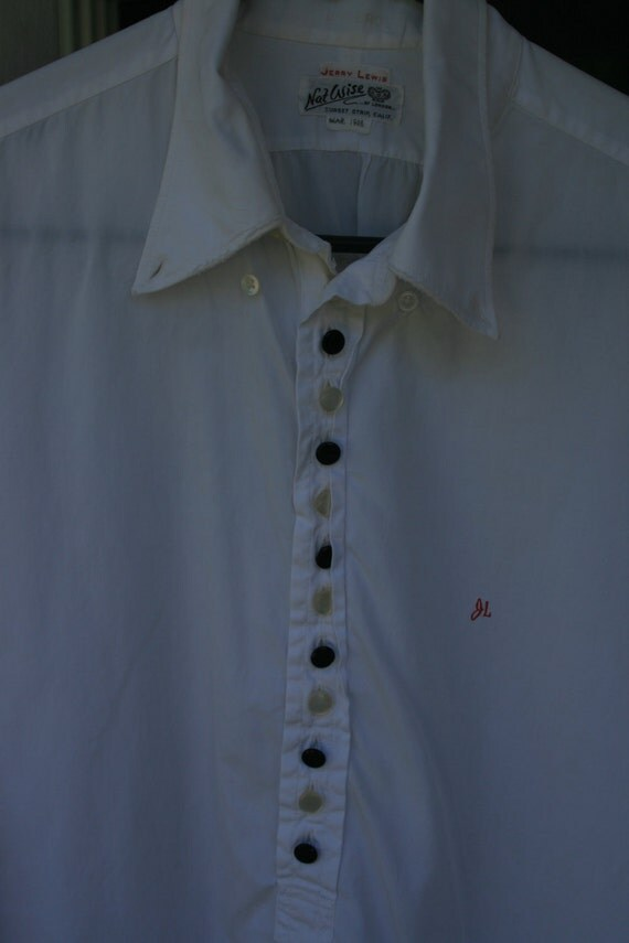 Vintage Silk Tuxedo Shirt Owned by Jerry Lewis JL Monogram Fathers Day