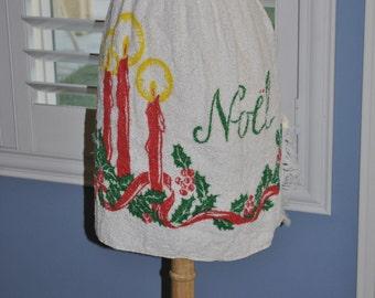 Retro Apron CHRISTMAS  Vintage On Sale  Hostess Gift Terry cloth