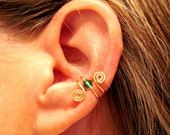 "Non Pierced ""Luck of the Irish"" Ear Cuff 1 Cuff - Color Choices"