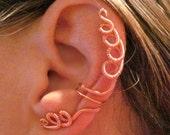 """Non Pierced """"Copper Coils"""" Ear Wrap Cuff"""
