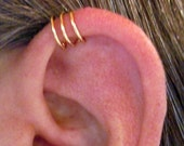 "3 Cuffs - Buy 2 Get 3 Helix Cuff Ear Cuff No Piercing Handmade ""Triple Loops"" Color Choices"