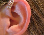 "Holiday SALE 2 Cuffs for price of 1 1/2  No Piercing ""Double Up"" Ear Cuff for Upper Ear 2 Cuffs Color Choices"