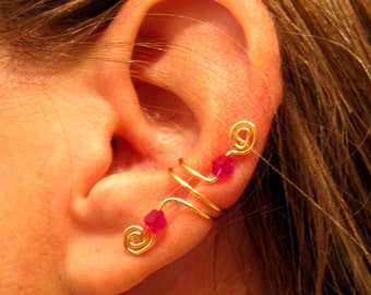 Non Pierced Ancient Path Ear Cuff 1 Cuff - Color Choices