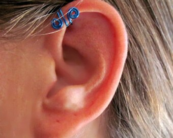 """No Piercing """"Spiral Up"""" Ear Cuff for Upper Ear 1 Cuff Color Choices"""