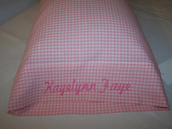 Personalized  Embroidered Custom Baby Pillow Case Includes Pillow Form