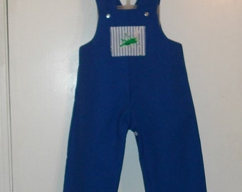 Royal Blue Romper With Two Pockets and Snaps