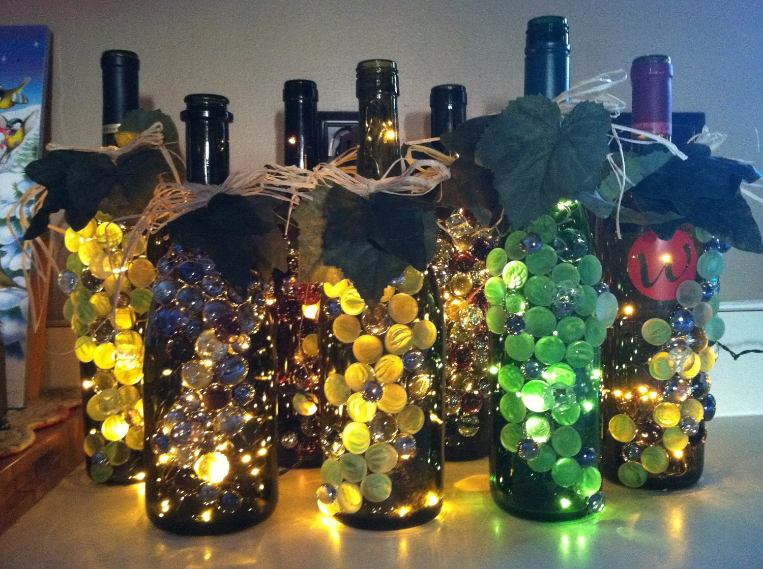 Wine Bottle Lights By Kmarieoriginals On Etsy
